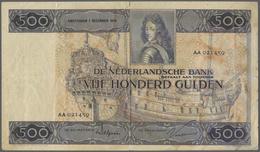Netherlands / Niederlande: 500 Gulden 1930 P. 52, Stronger Center And Vertical Fold, A 6mm Tear At T - Netherlands