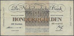 Netherlands / Niederlande: 100 Gulden 1945 P. 79, 3 Vertical And One Horizontal Fold, Some Creases I - Netherlands