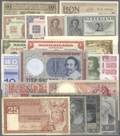 Netherlands / Niederlande: Lot Of 148 Banknotes Containing 3x 1 Gulden Zilverbon P. 13, 25 Gulden 19 - Netherlands