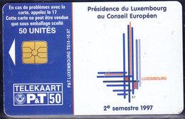 "Luxembourg, Telekaart ""Présidence Du Luxembourg Au Conseil Européen"", 50 Units (T.122) - Luxembourg"