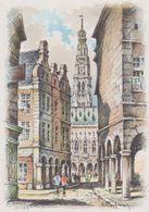 Carte Postale       BARRE  DAYEZ    ARRAS     Vieille Maison Et Le Beffroi     2097 C - Arras