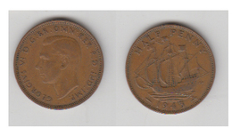 ANGLETERRE - HALF PENNY 1943 - C. 1/2 Penny