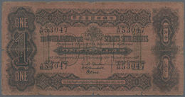 Straits Settlements: 1 Dollar 1911 P. 1b, Stronger Used With Strong Folds, Borders Worn, Center Hole - Malaysia