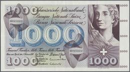 Switzerland / Schweiz: 1000 Franken 1974 P. 52m, Three Light Vertical, One Horizontal Fold, No Holes - Switzerland