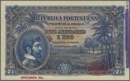 Angola: 2 1/2 Angolares 1926 Specimen P. 65s In Condition: UNC. - Angola
