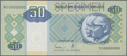 Angola: 50 Kwanzas 1999 Specimen P. 146as With Zero Serial Numbers, Specimen Perforation In Conditio - Angola