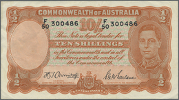 Australia / Australien: 10 Shillings ND(1942) P. 25b, Creases In Paper, Condition: VF+. - Australia