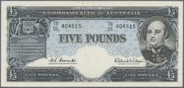Australia / Australien: 5 Pounds ND(1960-65) P. 35, Light Center Fold, No Holes Or Tears, One Stain - Australia