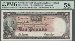 Australia / Australien: 10 Pounds ND(1960-65) P. 36, Condition: PMG Graded 58 Choice About UNC. - Australia