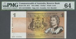 Australia / Australien: Pair Of The 1 Dollar ND(1968) Rare Signature Coombs/Randall Running Pair AGV - Australia