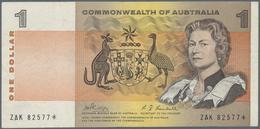 Australia / Australien: 1 Dollar ND(1966-72) Replacement Serial ZAK 82577* P. 37c, Rare Note As Repl - Australia
