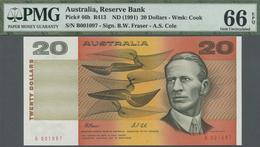 Australia / Australien: 20 Dollars ND(1991) P. 46h, Condition: PMG Graded 66 Gem UNC EPQ. - Australia