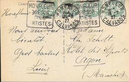 CALVADOS14  - HONFLEUR  - DAGUIN N° HON 101 D  - HONFLEUR TRESOR DES ARTISTES  -  1927 - CPA HONFLEUR - Sellados Mecánicos (Publicitario)