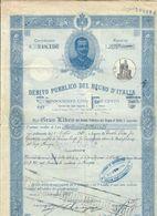 Debito Pubblico Del Regno D'italia 1921 Certificato Con Cedole Cod.doc.250 - Documenti Storici