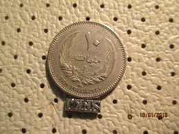 LIBYA 10 Milliemes 1970 1370 - Libya