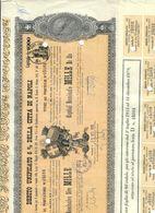 Debito Unificato 5% Della Città Di Napoli 1880 1000 Lire Con Cedole Dal 1931 Al 1979 Taglietti E Pieghe Doc.240 - Azioni & Titoli