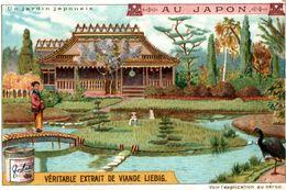 CHROMO LIEBIG AU JAPON UN JARDIN JAPONAIS - Liebig