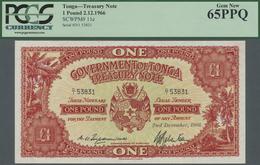 Tonga: 1 Pound 1966, P.11e, PCGS Graded 65 Gem New PPQ - Tonga