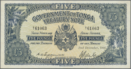 Tonga: Government Of Tonga - Treasury Note 5 Pounds December 2nd 1966, P.12d In Excellent Condition - Tonga