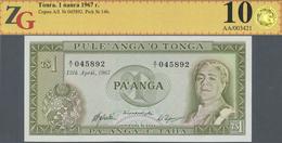 Tonga: 1 Paanga 1967 P. 15c, ZG Graded: 67 UNC. - Tonga