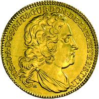Liechtenstein: Joseph Johann Adam 1721-1732: 1 Dukat 1728 NP, Friedberg 9R. 3,37 G. Vorzüglich - Ste - Liechtenstein
