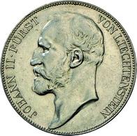 Liechtenstein: Johann II. 1858-1929: 5 Kronen 1900, Dav. 216, HMZ 2-1376b, Auflage 5.000 Expl.,vorzü - Liechtenstein