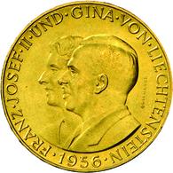 Liechtenstein - Anlagegold: Franz Josef II. 1938-1989: 50 Franken 1956; Gold 900/1000; 11,29 G; Divo - Liechtenstein