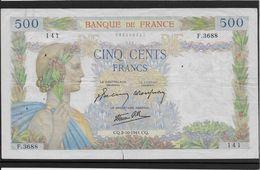 France 500 Francs La Paix - 2-10-1941 - Fayette N°32-22 - TB/TTB - 1871-1952 Circulated During XXth