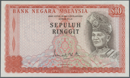 Malaysia: Very Rare Proof Print Of 10 Ringgit ND(1976 & 1981) P. 15p, Printed W/o Serial Numbers, Wi - Malaysia