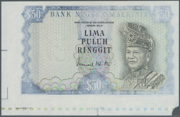 Malaysia: Very Rare Proof Print Of 50 Ringgit ND(1976 & 1981) P. 16p, Printed Without Serial Numbers - Malaysia