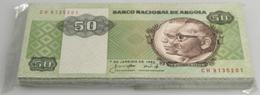Angola: Origial Bundle Of 100 Pcs 50 Kwanzas 1984 P. 6 In UNC. (100 Pcs) - Angola
