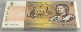 Australia / Australien: Origial Bundle Of 100 Pcs 1 Dollar ND P. 42c In UNC. (100 Pcs) - Australia