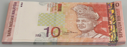 Malaysia: Set With 50 Banknotes 10 Ringgit ND(1997-2001), P.42d In UNC Condition. (50 Pcs.) - Malaysia