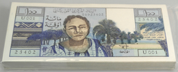 Mauritania / Mauretanien: Very Rare Bundle Of 100 Banknotes 100 Ougouiya ND P. 1 In Condition: UNC. - Mauritania