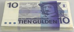 Netherlands / Niederlande: Bundle With 100 Pcs. 10 Gulden 1968, P.91  In UNC Condition (100 Pcs.) - Netherlands