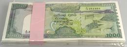 Sri Lanka: Rare Bundle Of 100 Banknotes 1000 Rupees 1990 P. 101 In Condition: UNC. (100 Pcs) - Sri Lanka