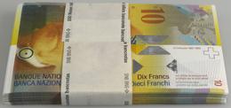 Switzerland / Schweiz: Bundle With 100 Pcs. 10 Franken (20)06, P.67b With Running Serial Numbers In - Switzerland