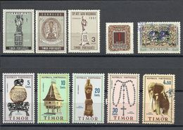 TIMOR , Lot De 10 Timbres Neufs & Oblitérés , Divers Années - Osttimor