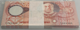 Tonga: Full Bundle Of 100 Pcs 2 Paanga ND P. 32c In UNC. (100 Pcs) - Tonga