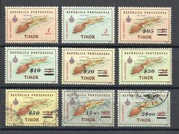 TIMOR , Lot De 9 Timbres Neufs & Oblitérés , 1956 & 1960 - Timor Oriental