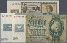 Deutschland - DDR: Satz Kuponausgaben 1948 1 - 100 Mark Inkl. Der 20 Mark Österreicherin Mit Klebema - [ 6] 1949-1990 : GDR - German Dem. Rep.