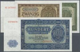 Deutschland - DDR: Banknotensatz 1948 Von 50 Pfennig Bis 1000 Mark, Dabei Auch Der Seltene 100-er Mi - [ 6] 1949-1990 : GDR - German Dem. Rep.