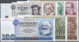 Deutschland - DDR: Banknotensatz 1971/75 Mit Den Beiden Nicht Mehr Verausgabten Noten Zu 200 Und 500 - [ 6] 1949-1990 : GDR - German Dem. Rep.