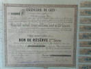 FAIENCERIE De GIEN         1895           GIEN - Actions & Titres
