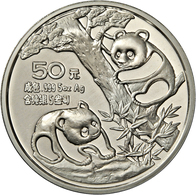 China - Volksrepublik: 50 Yuan 1990, Silber Panda, 5 OZ (155,5 G), Großer Pandabär, Auflage Nur 5.00 - China