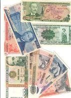 Costa Rica Paraguai Messico Venezuela Perù 9 Bancote Fds LOTTO 1466 - Costa Rica