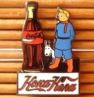 Joli Pin's Tintin Coca-Cola, émail Grand Feu, Très Belle Qualité. - Coca-Cola