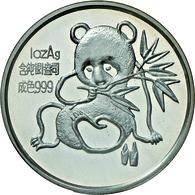 China - Volksrepublik: Medaille 1 OZ Silber 1992 Freundschaftspanda, Anlässlich Der Münzmesse In Mün - China