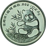China - Volksrepublik: Medaille 1 OZ Silber 1993 Freundschaftspanda, Anlässlich Der Münzmesse In Mün - China