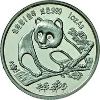 China - Volksrepublik: Medaille 1 OZ Silber 1994 Freundschaftspanda, Anlässlich Der Münzmesse In Mün - China